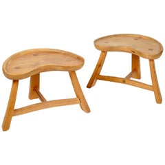 Krogenäs Möbler, Pair of Stools, Norway, 1960s-1970s