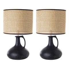 Kron, Pair of Jug Ceramic Table Lamps