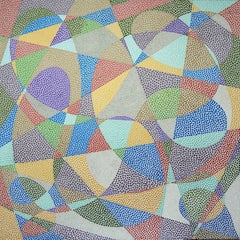 Lines and Curves, Painting, Acrylic on Canvas