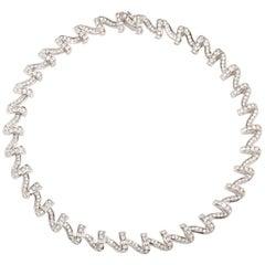 "Krypell ""Apple Peel"" 18.50 Carat Diamond Necklace in Platinum"