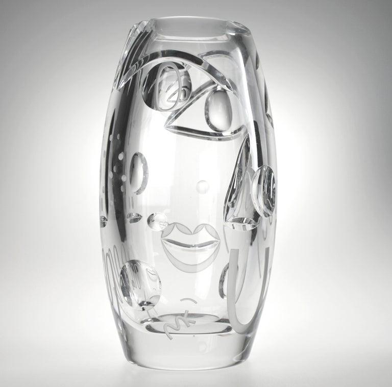 Polish Krystal Kut Vase by Malwina Konopacka For Sale