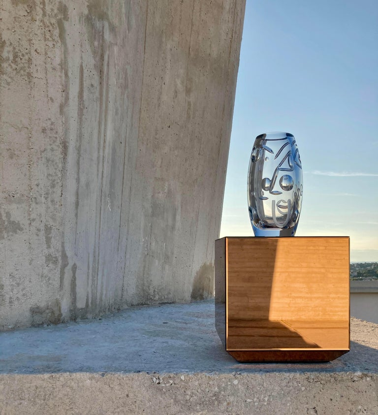 Krystal Kut Vase by Malwina Konopacka In New Condition For Sale In Geneve, CH