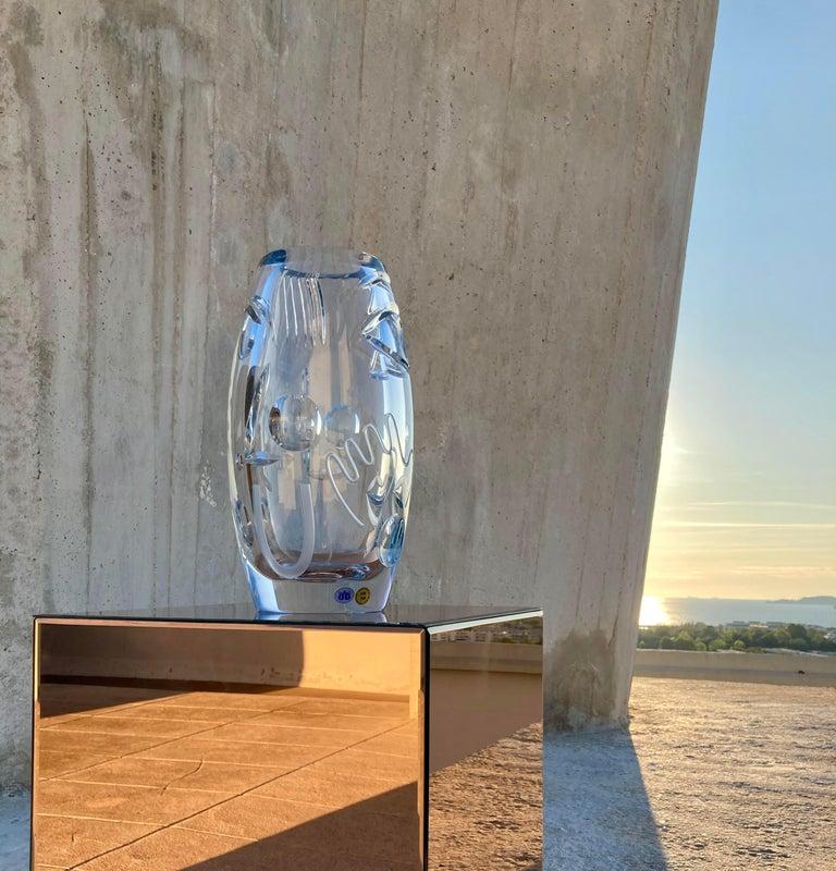 Crystal Krystal Kut Vase by Malwina Konopacka For Sale