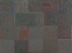 About Lost Soul - Conceptual Encautic Oil Painting, Marble Dust Ash On Canvas XL