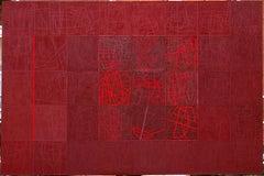 Caput Mortuum - Conceptual Encaustic Oil Painting, Marble Dust Ash On Canvas XXL