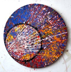 Cauda Pavonis,  Synergic - Conceptual Encaustic, Oil Pigments, Canvas On Wood