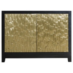 Kuai Design Cabinet, Brass by Robert Kuo, Hand Repousse, Limited Edition