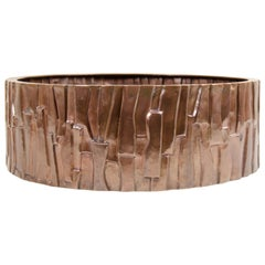 Kuai Design Low Cachepot, Copper by Robert Kuo, Hand Repoussé, Limited Edition