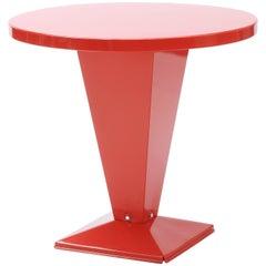 Kub Round Table 80 in Red-Orange by Xavier Pauchard & Tolix