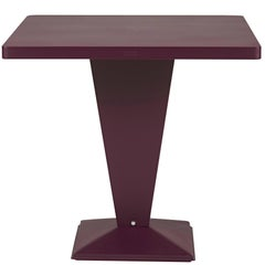 KUB Square Table 80 in Aubergine by Xavier Pauchard & Tolix