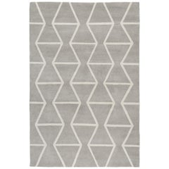 Kuba Hand-Knotted Area Rug in Wool by The Rug Company