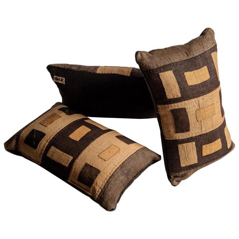 Kuba Raffia Feather Filled Cushion With Mohair