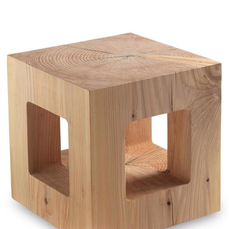Amazing Kube Cedar Stool Inzonedesignstudio Interior Chair Design Inzonedesignstudiocom