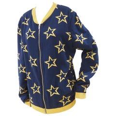 Kueen blue yellow sweater - cardigan
