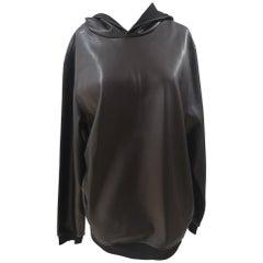 Kueen Eco leather Trump hoodie / sweater