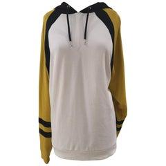 Kueen White , yellow black lion hoodie / sweater