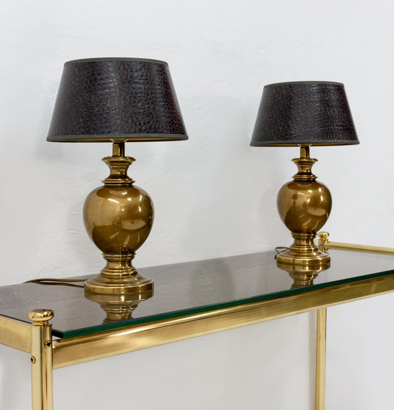 Kuhlmann Table Lamps Germany, 1970s In Good Condition For Sale In Den Haag, NL