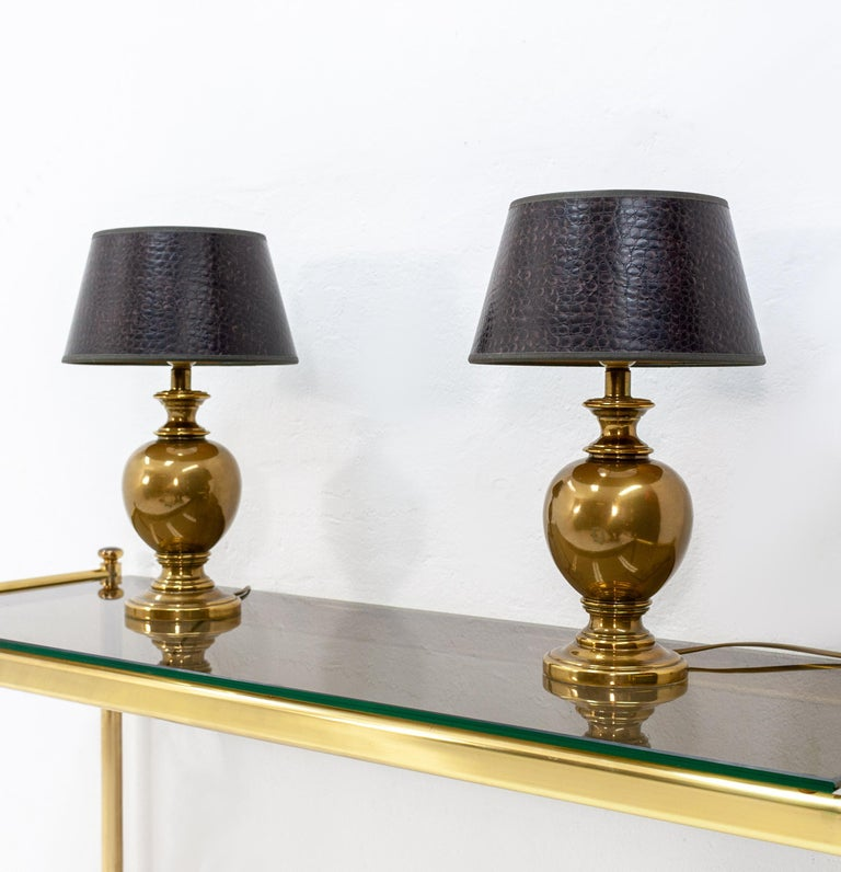 Late 20th Century Kuhlmann Table Lamps Germany, 1970s For Sale
