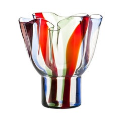 Kukinto Short Glass Vase in Multicolor by Timo Sarpaneva