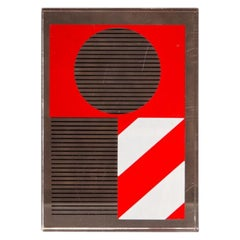 Kumi Sugaï Parallelepiped Red and White Plexiglas Japan Modern Serigraphy, 1990