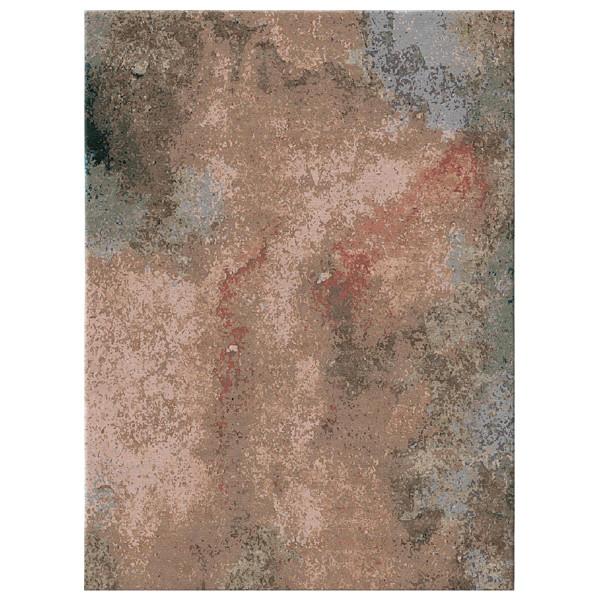 Kuninda Kingdom - Living Room Modern Hand Knotted Wool Blend-silk Rug