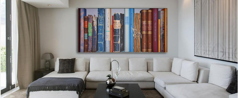 Book Collection by Kuno Vollet - Hyperrealist, Contemporary Painting For Sale 1