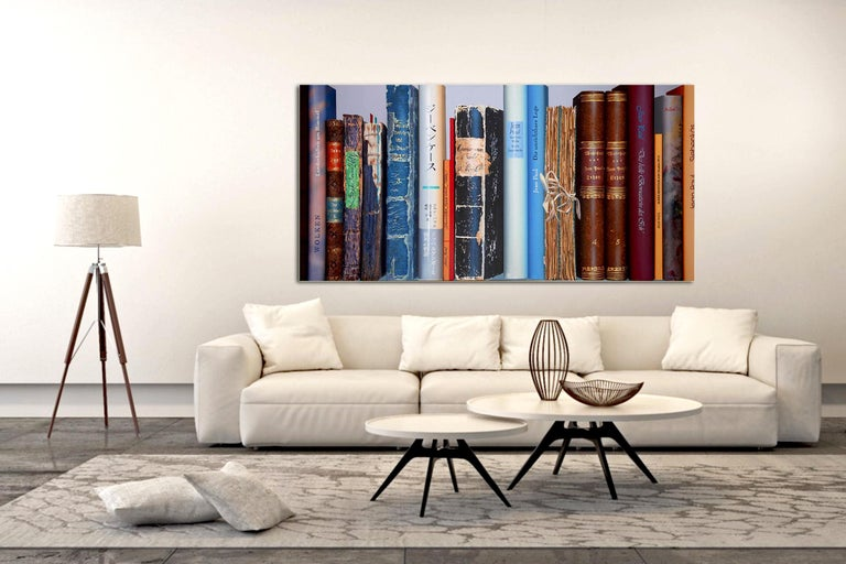 Book Collection by Kuno Vollet - Hyperrealist, Contemporary Painting For Sale 2