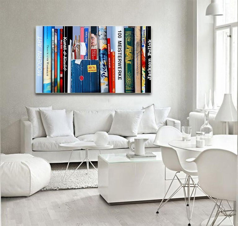 Book Collection by Kuno Vollet - Hyperrealist, Contemporary Painting For Sale 3