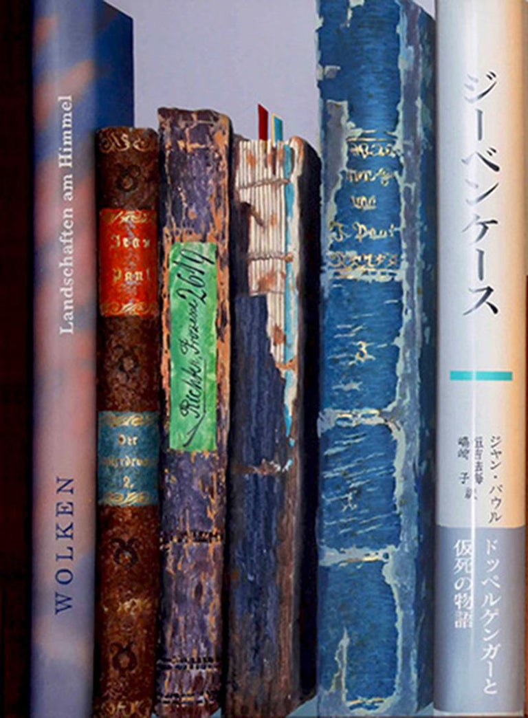Book Collection by Kuno Vollet - Hyperrealist, Contemporary Painting For Sale 4