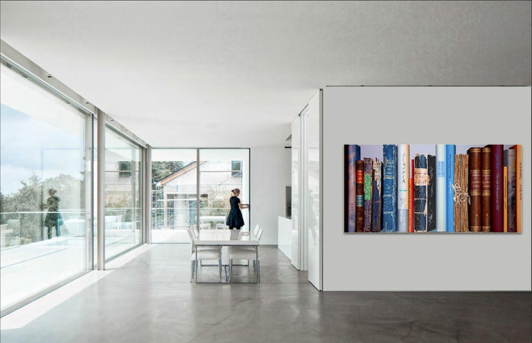 Book Collection by Kuno Vollet - Hyperrealist, Contemporary Painting For Sale 5