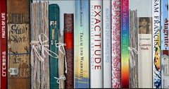 Book Collection Exactitude by Kuno Vollet - Hyperrealist, Contemporary Painting