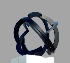 Ambit by Kuno Vollet - Contemporary Black Circle Steel Sculpture