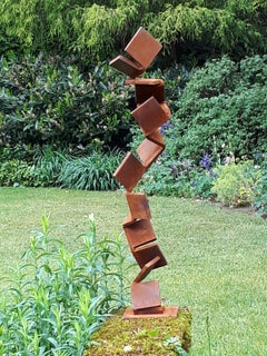Ascend by Kuno Vollet - Contemporary Rusted Steel sculpture for Outdoors