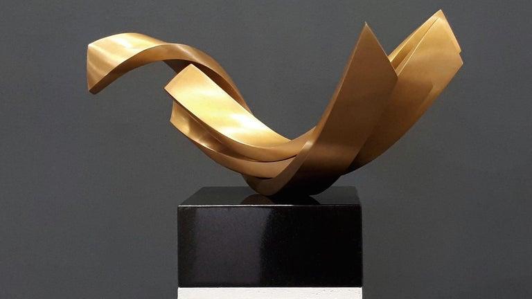 Artist: Kuno Vollet  Title: Balance  Materials: Bronze, black granite base  Size: 42 x 22 cm  _______________________________________________________________________  This elegant original cast bronze sculpture by German artist Kuno Vollet brings