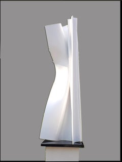 Convolution by Kuno Vollet Contemporary White Sculpture for indoor or outdoor
