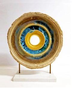 Creatio Continua - Crystal Glaze, 24k gold, ceramics sculpture