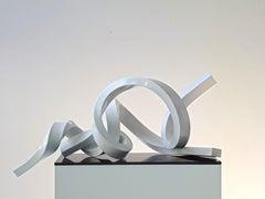Infinitum 7  - White Sculpture with Diamond Sparkle