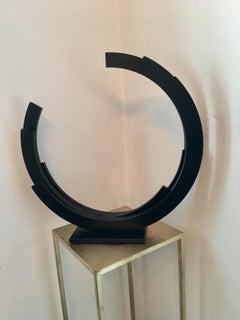 Perpetuity by Kuno Vollet - Black Steel Circle Contemporary Minimal sculpture