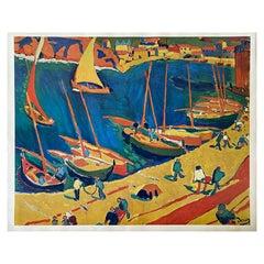 Kunstkreis Lucerne, 1966, Print Fishing Harbour by André Derain