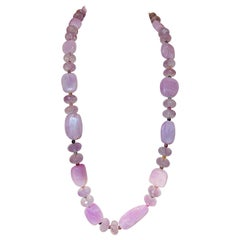 Kunzite and Tourmaline and Amethyst Necklace
