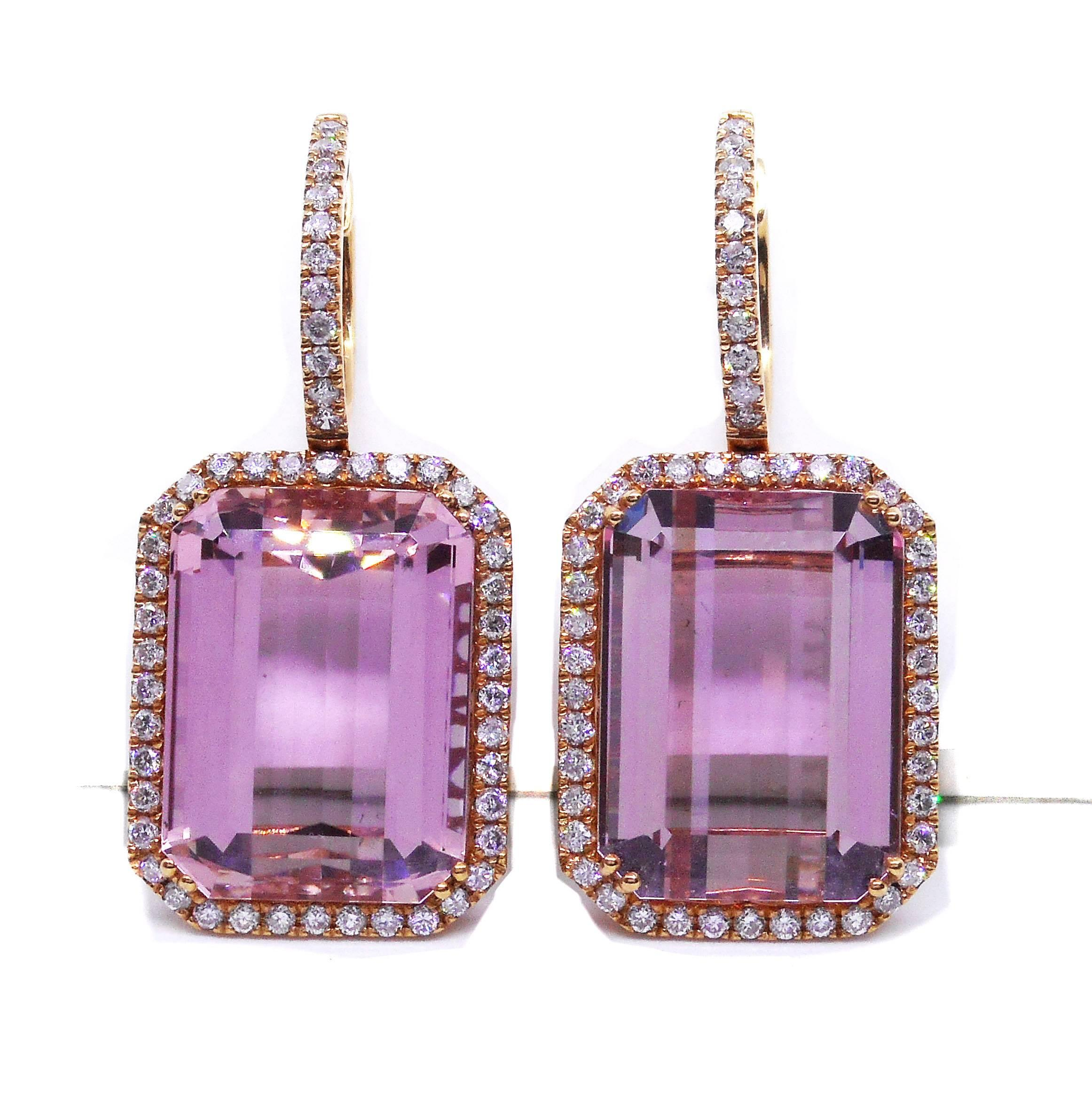 lyst gold earrings jewelry renee gallery in white lewis kunzite