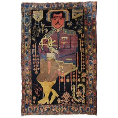Kurdish Colonel Mohammad Tagi-Khan Persian Pictorial Rug