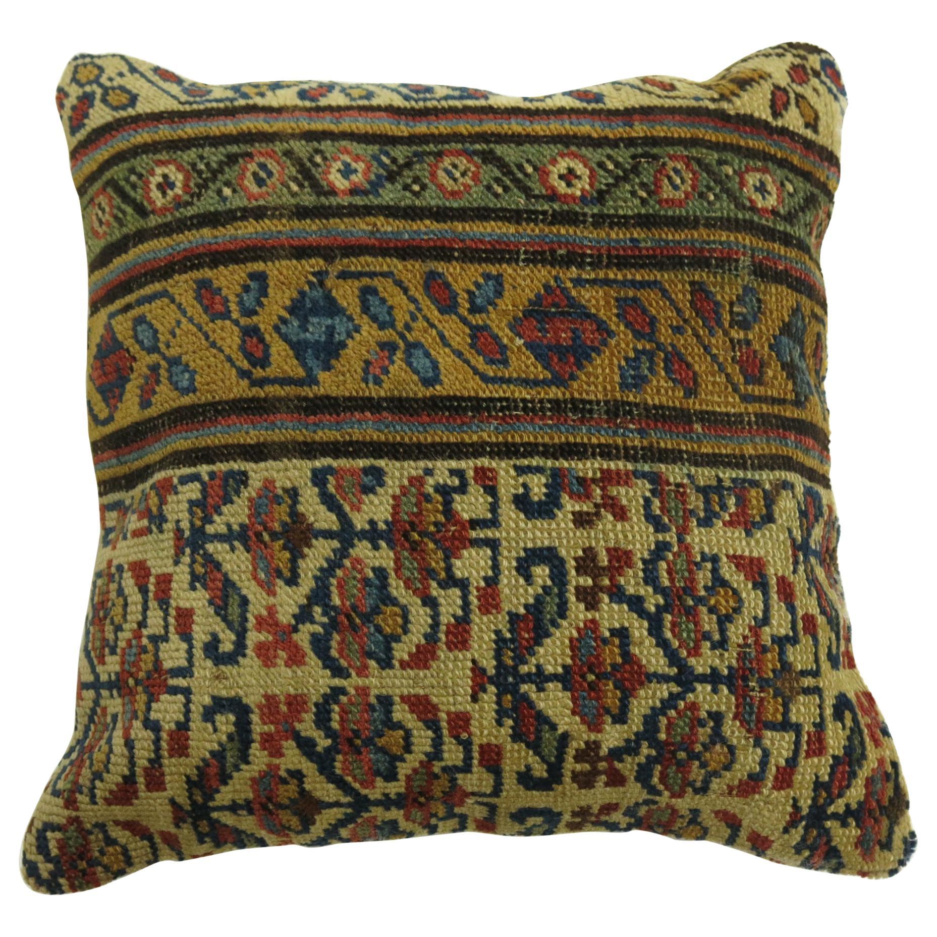 Tribal Kurdish Rug Pillow