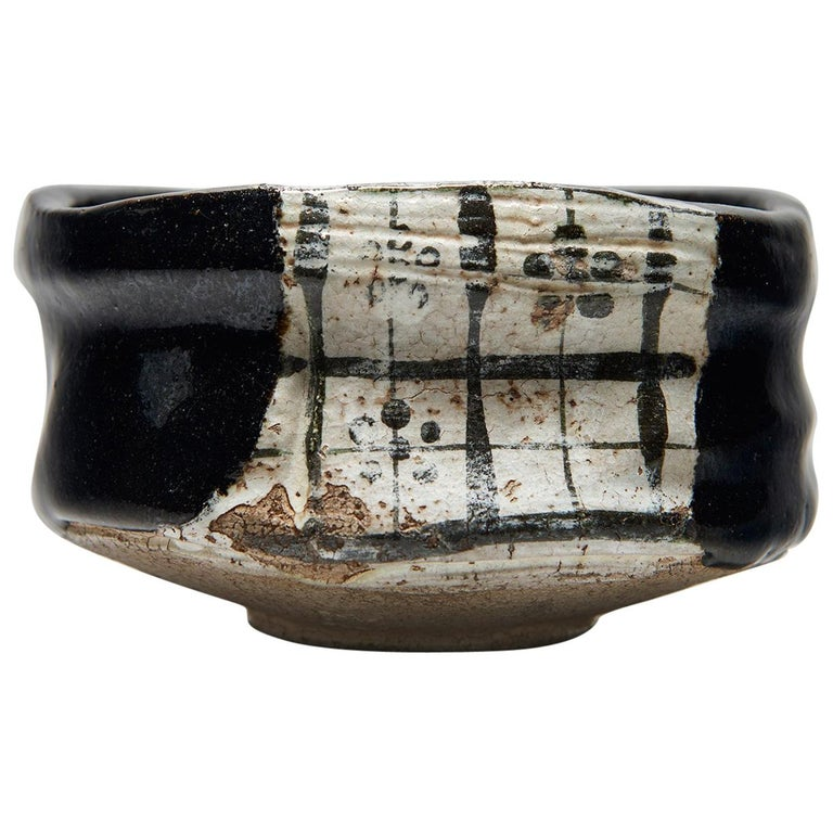 Kuro-Oribe Chawan / Tea Bowl For Sale