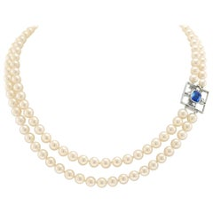 Kurt Aepli for Burch Sapphire, Diamond and Pearl Necklace