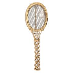 Kurt Gaum Diamond Tennis Brooch