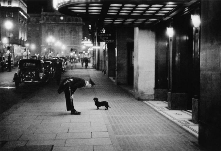 Kurt Hutton Black and White Photograph - 'Commissionaire's Dog' (Limited Edition)