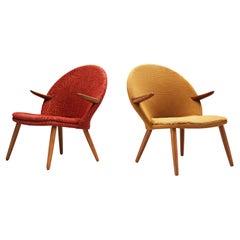 Kurt Olsen for Glostrup Møbelfabrik Lounge Chairs in Teak
