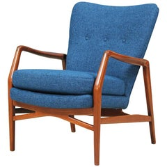Kurt Olsen Model-215 Wing Back Chair for Slagelse Møbelvaerk