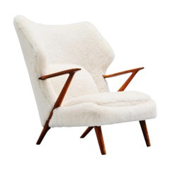 Kurt Olsen Papa Bear Chair in Alpaca Wool, Denmark, 1955
